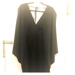 Trina Turk Black Silk Tunic Dress